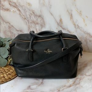 EUC - Kate Spade ♠️ black pebbled leather satchel